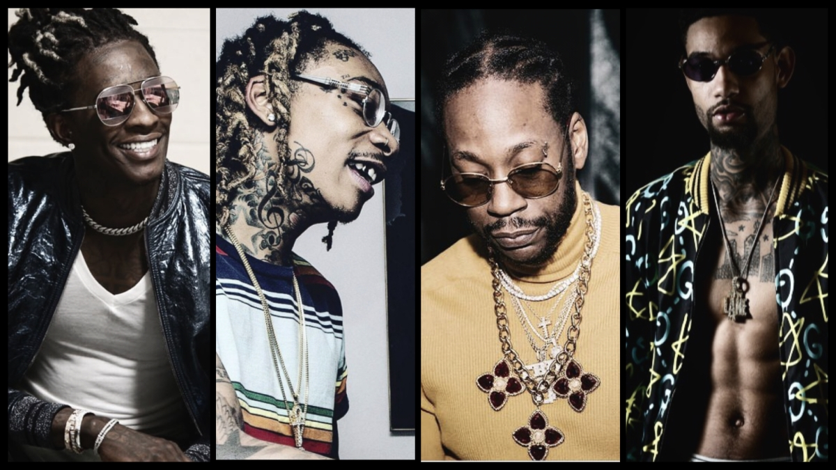 "YOUNG THUG, 2 CHAINZ, WIZ KHALIFA & PNB ROCK – ""GANG UP"""